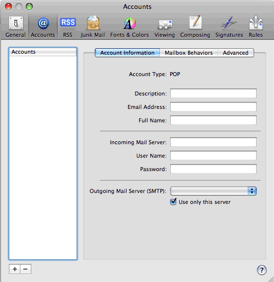 Set up an e-mail account on Mac Mail - Step 2 of 6